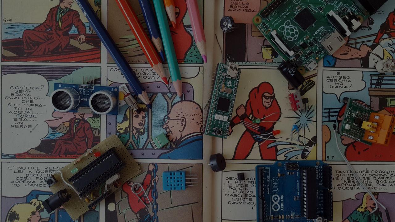 Innovazione tecnologica Arduino Raspberry dark