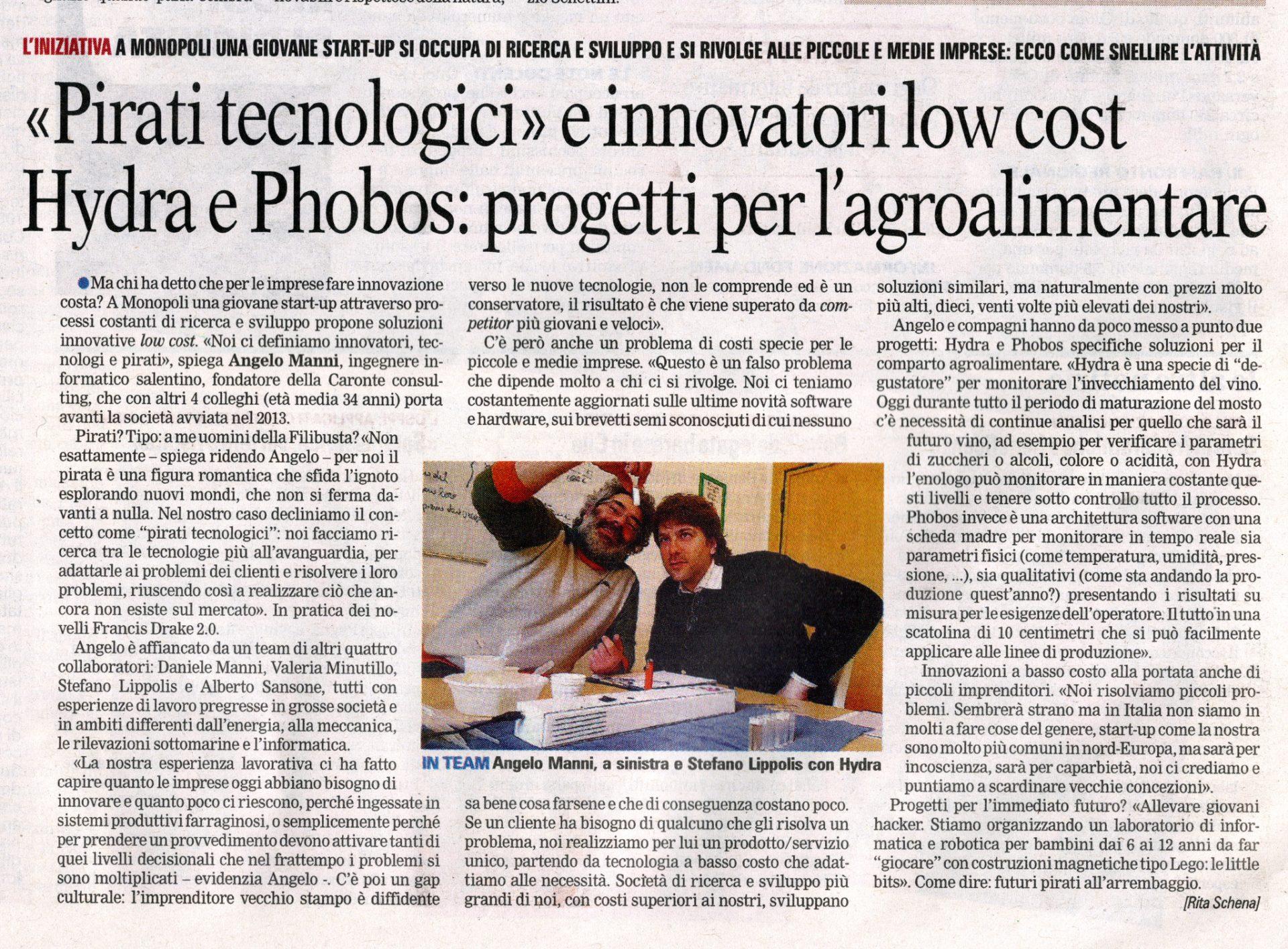Gazzetta del Mezzogiorno Pirati tecnologici